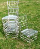 Crystal Clear Silla Chiavari de resina de banquetes para bodas