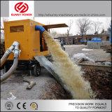 12inch de diesel Pomp van het Water voor Overstromingsbeheer met Aanhangwagen in Zuid-Afrika