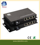 Commutateur fibre optique de 4 ports Fast Ethernet fibre optique unique Media Converter