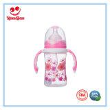 Bébé biberon de lait en plastique avec poignée 5oz/8oz/10oz