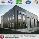 Immeuble de bureau préfabriqué de structure métallique avec le garage