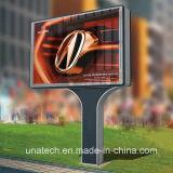 Unipole solar al aire libre de la estación de servicio de Mega Petro ad Billboard de la caja de luz LED de los medios de comunicación