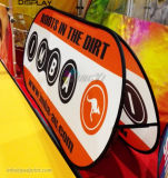 Печатание полного цвета напольное хлопает вверх знамя рамки горизонтальное