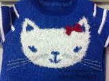 Pull en tricot pour enfant - Girls Intarsia Cat Jumper