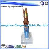 넣어진 완전히 Cu Screened/PE Insulated/PVC는 또는 또는 컴퓨터 또는 계기 케이블 좌초시켰다