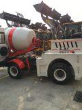 Caminhão autoflutuante do misturador concreto de motor Diesel