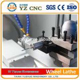Torno de pulido superficial del CNC de la reparación del borde del coche del torno de la rueda Wrc28