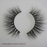 I cigli naturali della pelliccia dei capelli del visone 3D di marchio privato in pieno mettono a nudo le sferze dell'occhio