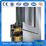Perfil de aluminio anodizado plateado brillante para puertas y ventanas