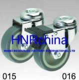 Grauer Copolymer-Rad-Schwenker mit Verschluss-Loch-Oberseite-Fußrolle