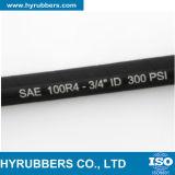 SAE100 R4 섬유 땋는 고압 유압 호스