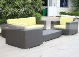 Sofà di vimini del giardino impermeabile esterno per qualsiasi tempo della mobilia impostato (MTC-284)