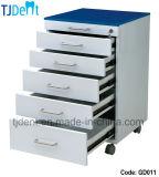 El mueble inoxidable de la carrocería de acero salva y la cabina dental durable de la clínica (GD011)