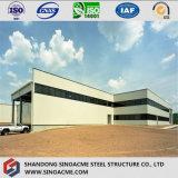 Costruzione di gestione della struttura d'acciaio con la parete divisoria di vetro