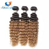 Braziliaanse Human Hair Extensions 1b 27 30 Blond diepe golf haar Bundels
