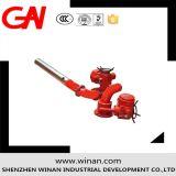 Espuma de control eléctrico de doble monitor fuego/Agua para la lucha contra incendios