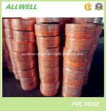 Шланг воды брызга давления PVC желтый аграрный высокий