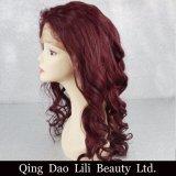 El producto de pelo brasileño de la Virgen 99j suelta pelucas libres del pelo humano de la partida 99j Remy de la peluca llena del cordón de la onda con el bebé