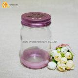 435ml borran el tarro de masón de cristal con la botella y las tapas coloreadas