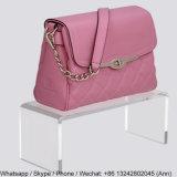 Crémaillère d'étalage de sac à main de qualité et présentoir acryliques de sac