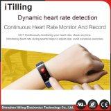 La moda de alta calidad Desig Pantalla a color pulseras Reloj inteligente con Monitor de Ritmo Cardíaco la presión arterial.