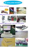 Corte de tecido de couro de várias camadas