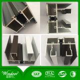 Graues Farben-Puder-überzogenes schiebendes Aluminiumfenster mit niedrigem Preis