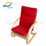 안락 아기 의자 굴곡 나무는 최고 뒤를 가진 의자를 앉는다