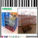 Supermarkt-beweglicher Speicher-faltbare Rahmen-Bildschirmanzeige-Zahnstange