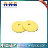 PPS Matériel Blanchisserie Coin tag RFID LF pour la blanchisserie industrielle