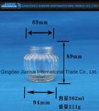 Grande vaso dell'ostruzione del vetro da bottiglia dei sottaceti della pancia per memoria dell'alimento (JH-1261)