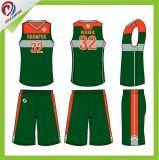 Projeto uniforme Sublimated personalizado do basquetebol por atacado das mulheres da juventude