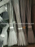 Cepillo de limpieza de tubo de alambre de nylon de acero inoxidable con anillo (YY-657)