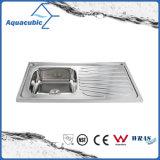 Boven de TegenGootsteen van de Keuken van Moduled van het Roestvrij staal (acs-10050B)