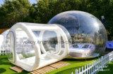واضح نفخ التخييم خيمة في الحديقة فقاعة