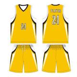Venda por grosso de basquete personalizada camisolas com tecido respirável