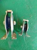Bloco de polia liso da corda de fio da montagem