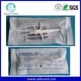 Injecteur/seringue animaux d'IDENTIFICATION RF avec l'étiquette en verre sèche de puce