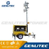 9m mastro de torre de luz do gerador a diesel com 4*1000W Faroletes