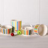 Nuevas tazas de papel del helado del diseño con colores multi