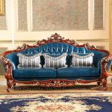 Mobilia del salone con il sofà di cuoio di legno impostato (521)
