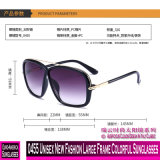 0455 de Estrutura Grande moda nova unissexo óculos coloridos