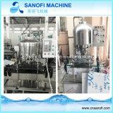 Machine recouvrante remplissante linéaire séparée de lavage des bouteilles d'animal familier à échelle réduite