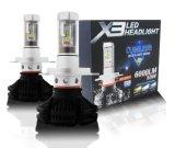 X3 LED 헤드라이트 전구 H1 H3 H4 H7 H11 H13 9005 9006대의 차 LED 헤드라이트
