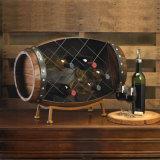 De Vorm van het vat met Rek van de Vertoning van Voeten het Houten voor Wijnoogst of Wijn