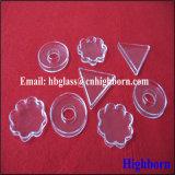 Capsula di Petri Triangolare libera di lucidatura di vetro di quarzo