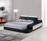 Re di cuoio italiano moderno Size Bed per la camera da letto