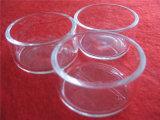 Plato de Petri claro redondo del cuarzo con la tapa
