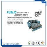 Домашняя мебель старинные ткани синего цвета 3 местный диван - кровать фальцовки