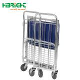 Programma di utilità di plastica muto poco costoso del carrello di trasporto dell'acciaio inossidabile per trasporto